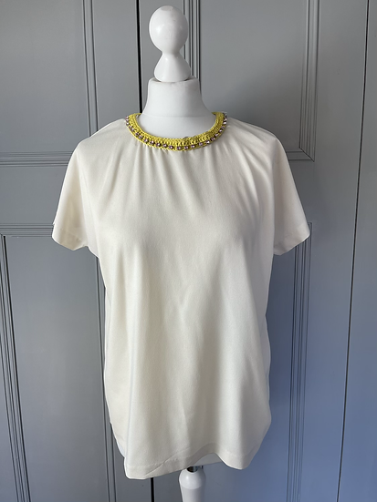 Essential Antwerp jewelled cream top Uk 10-12 rrp£180