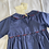 Thumbnail: Baby BNWT 6mths navy/tartan baby suit with Peter Pan collar