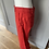 Thumbnail: HOBBS cropped linen red trousers Uk 8/10