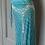 Thumbnail: Temperley Teal beaded skirt and top set Uk10/12