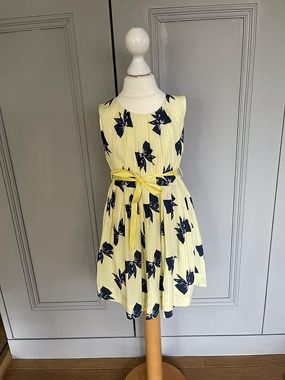 BNWT Rachel Riley yellow bow dress age 4