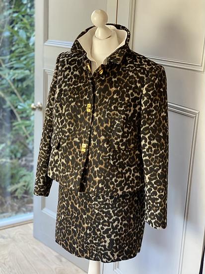 M&S leopard print soft wool jacket. UK 16