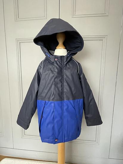 BNWT- Boys Ted Baker navy/royal blue rain coat. age 7