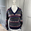 Thumbnail: Vintage wool cottage core style v neck jumper UK8-12