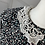 Thumbnail: Vintage 80s floral dress with lace and fabric belt. Uk14
