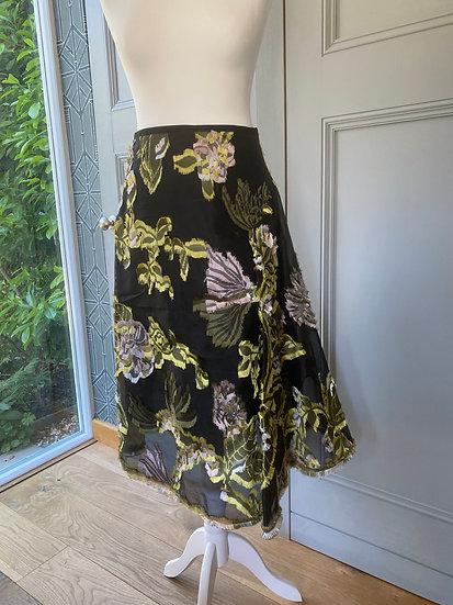 Erdem applique floral skirt (UK10)