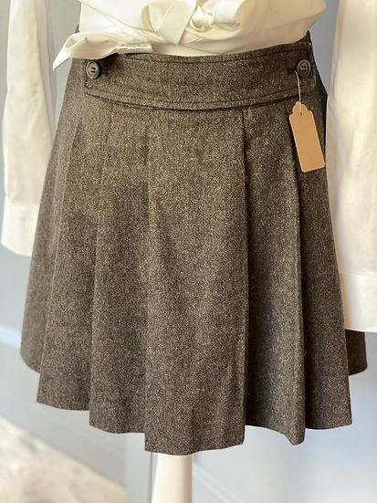 Brown wool kilt/mini skirt. UK14