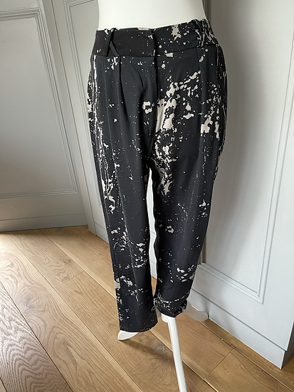 Zimmermann black and cream trousers Uk 8/10