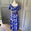 Thumbnail: Vintage 70s blue/purple/white embellished dress UK 10-12