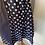 Thumbnail: Girls vintage Laura Ashley girls navy polka dot dress 8/9/10 years