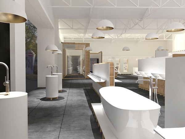 OFA NOARQ trofa showrom renovation render