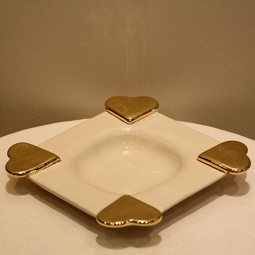 Hearts plate medium