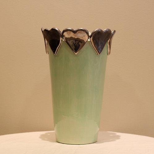 Hearts vase large