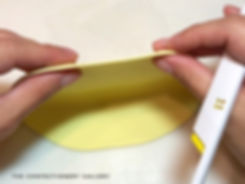 The Confectionery Gallery Blog | Studying a Tulip to Recreate in Sugar - thinly rolled light yellow thin gumpaste for sugar tulip petals