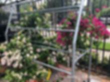large bougainvillea hanging baskets clos