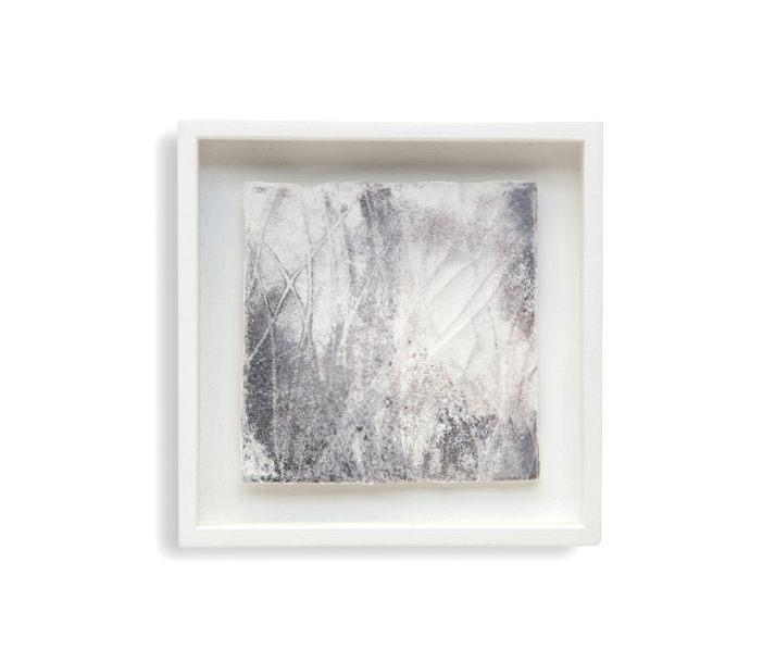 geglühten Kupfermatrize, Gips, Holz, 16 x 16 cm