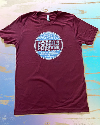 Adult Fossils Forever Logo Tshirt -MAROON