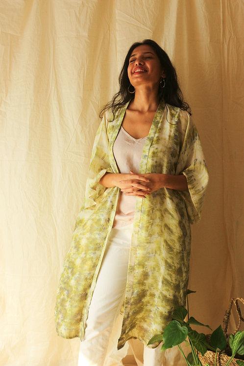 Hibiscus Silk Kimono