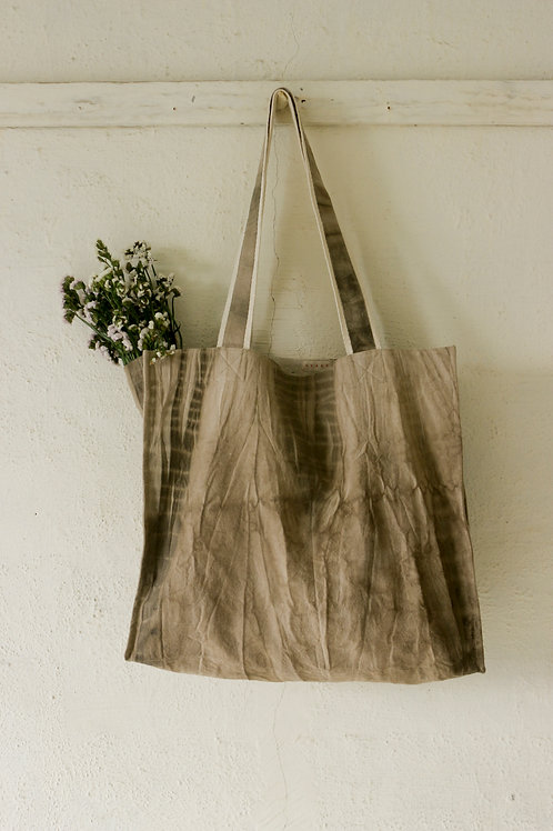 """Grey Shibori Large Tote Bag """