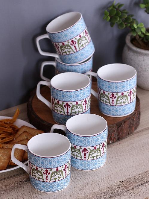 Floral Illusion Mug (Set of 6)