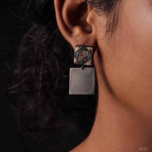 The Dark Parallel Earrings