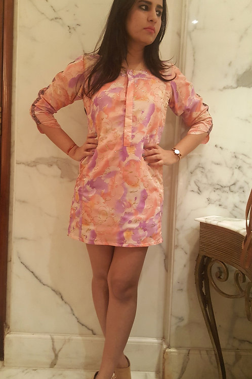 Pink Abstract Dress