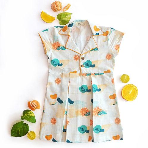 Citrus Shirt Dress