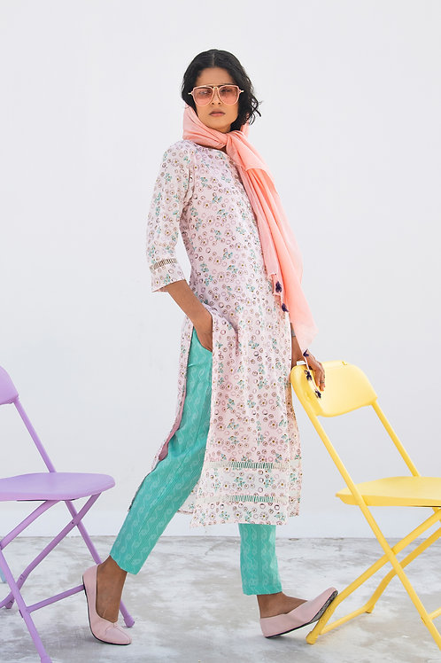 FUSCHIA Kurta-Pants Set
