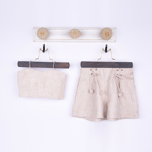 Beige Linen Co-ords Set