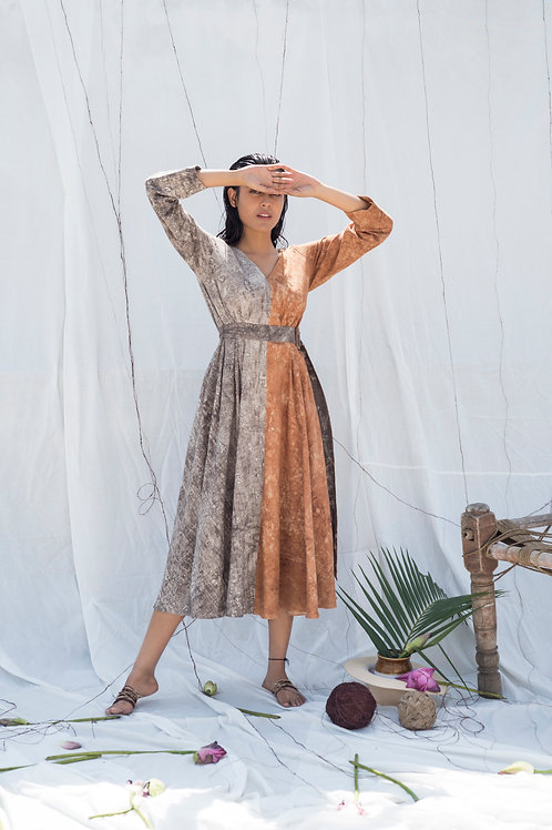 Ambar Color Block Midi Dress