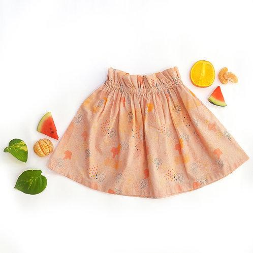 Blush Broccoli Print Skirt