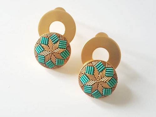 The Turquoise Round Earrings