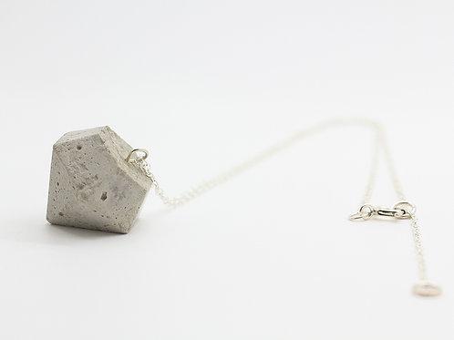 Concrete Pendant on a Silver Chain
