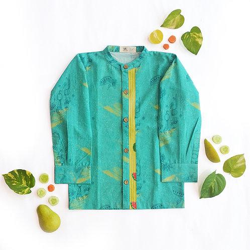 Tea Salad Pin Tuck Shirt