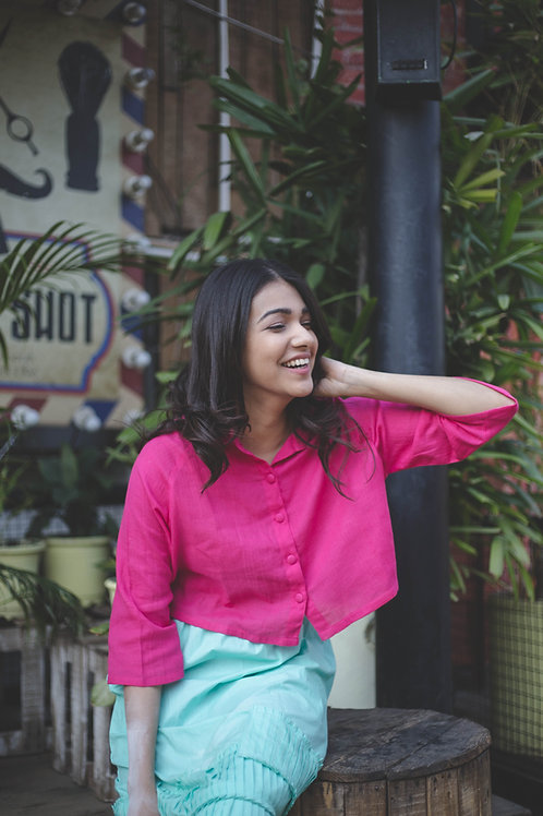 Rani Pink Crop Shirt