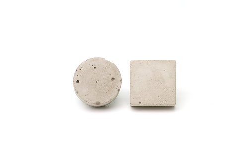 Concrete Silver Studs Circle and Square