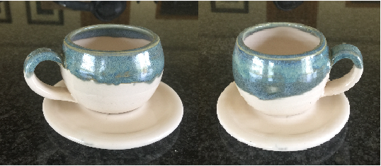 Espresso Set of 2 with Saucers