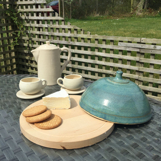 Coffee pot set and cheese board with wooden basejpg