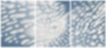 """11664"" Triptych on Mirrored Mylar Paper by Kolo"