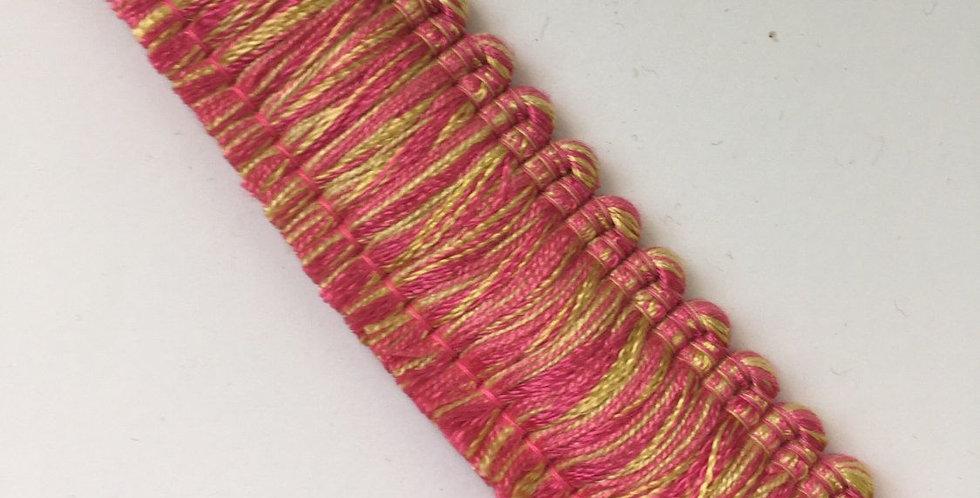 Pink and Yellow - Brush Fringe