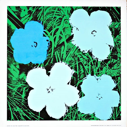 """""""Blue Flowers"""" by Andy Warhol"""