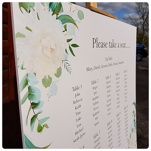 'Elegance' An elegant floral seating plan for your wedding