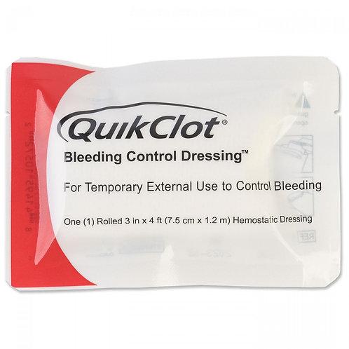 QuikClot Bleeding Control Roll Dressing - 3 in x 4 ft