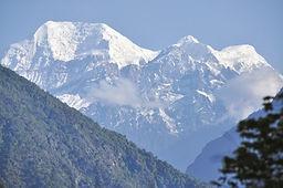 Snow Mountain at Lamjung