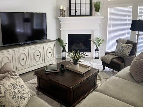 Cozy living room design - new build