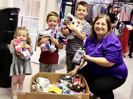 Katy Kids Donate 700 New Socks for Needy Families
