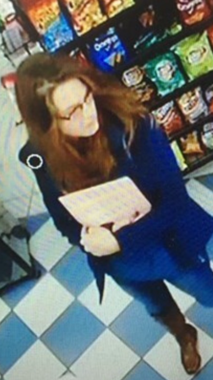 Surveillance of Ashlee at the Greyhound Bus at the Foot Mart location