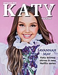 Katy Magazine September 2020 Cover Savan