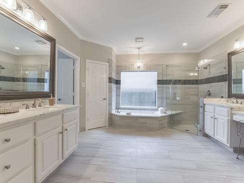 Master bathroom renovation and design