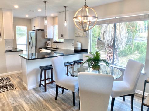 Modern farmhouse kitchten and dining